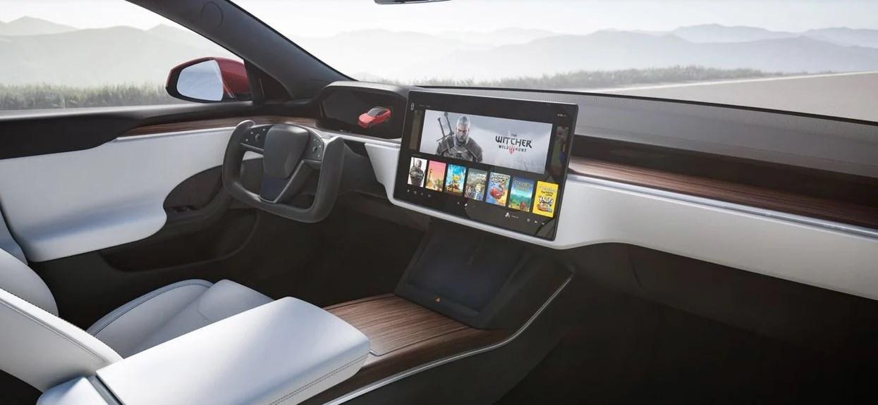 Tesla Cyberpunk 2077 w aucie