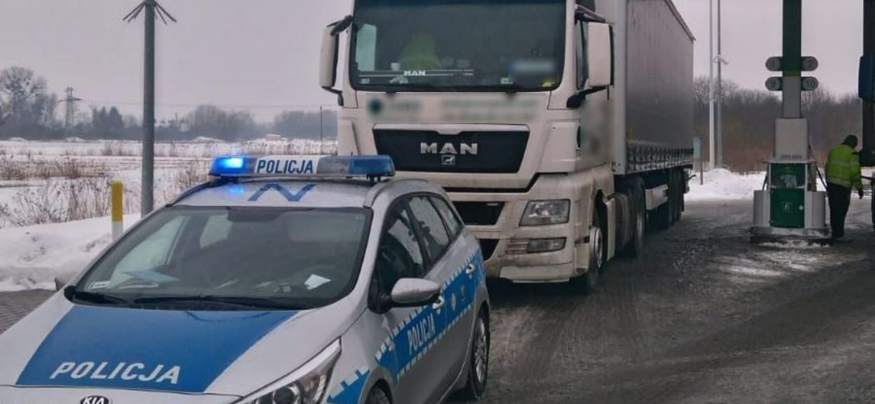Ciężarówka pijany kierowca