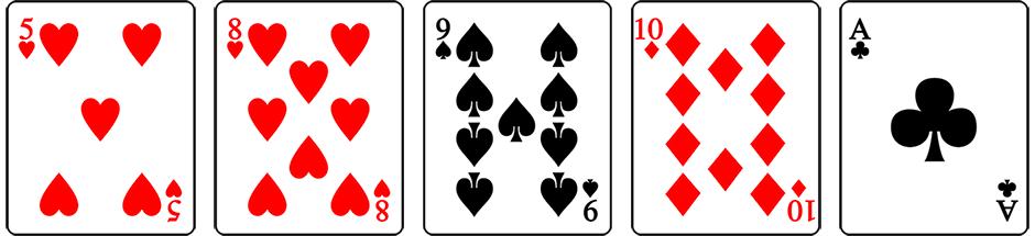 52 bingo card
