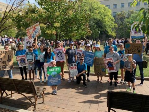 Some of the CleanChoice Energy team attending the Climate March in Washington DC.
