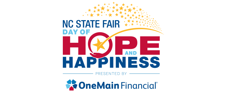 October 16: Day of Hope and Happiness at the North Carolina State Fair in Raleigh, NC