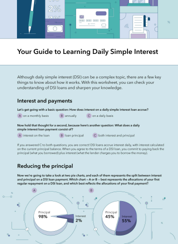 OneMain Financial daily simple interest worksheet link