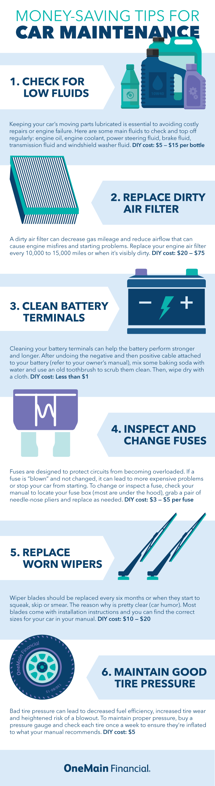 Car Maintenance Tips Infographic