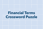 Financial Terms crossword puzzle