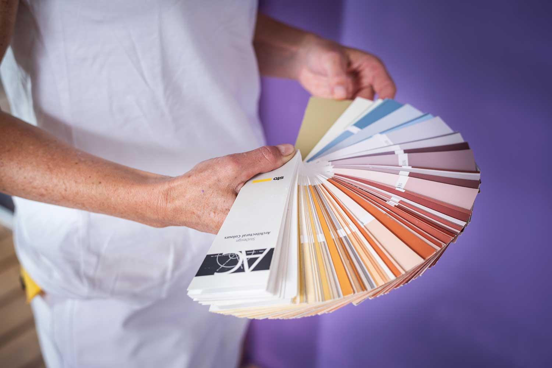 Maler Farbpalette