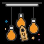 Price Range Lamp Icon