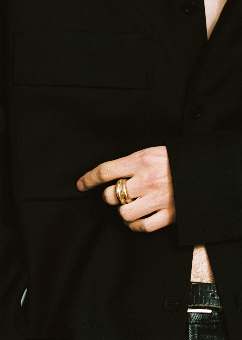 Snake ring thick gold