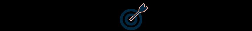 An icon of an arrow hitting a bullseye target