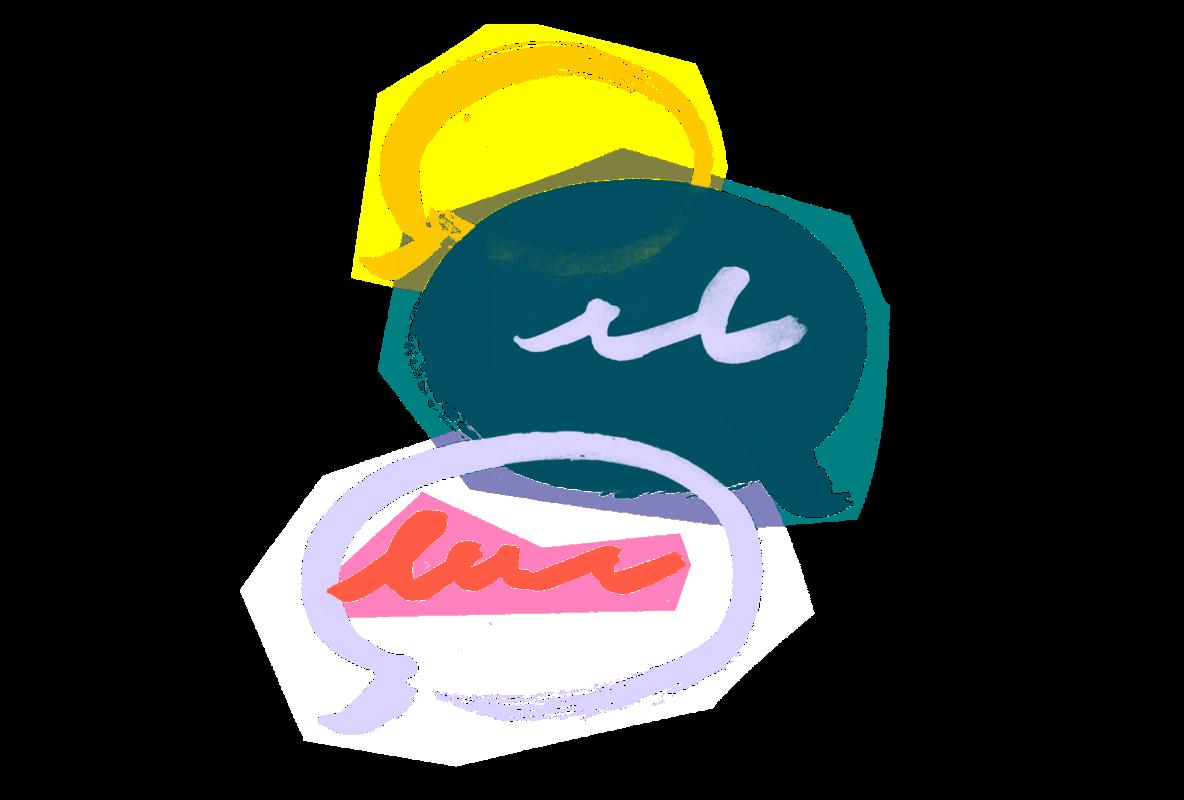text bubble illustration