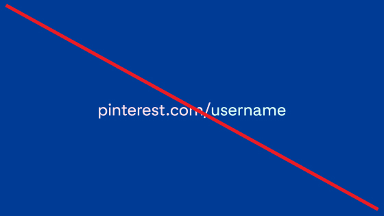 Use of pink and blue in a sample account URL on a navy blue background