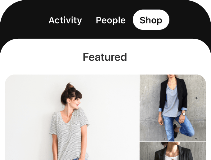 Get a shop tab on your profile