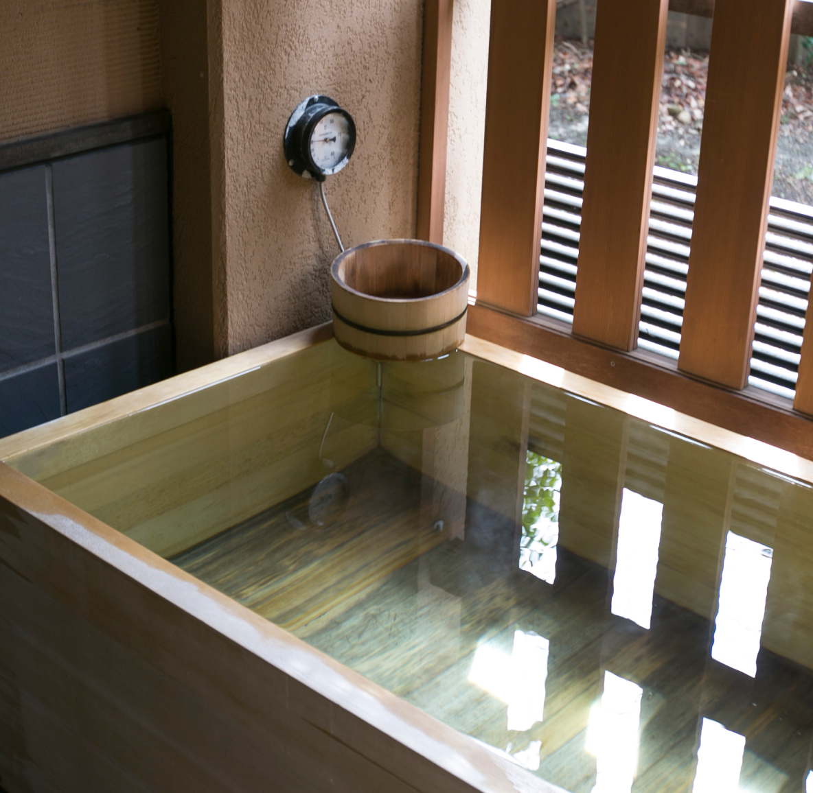 A Japanese soaking tub
