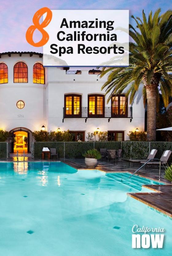 Visit California ad for spa resorts