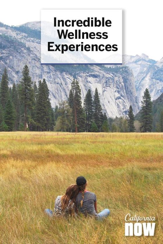 Visit California ad for wellness adventures