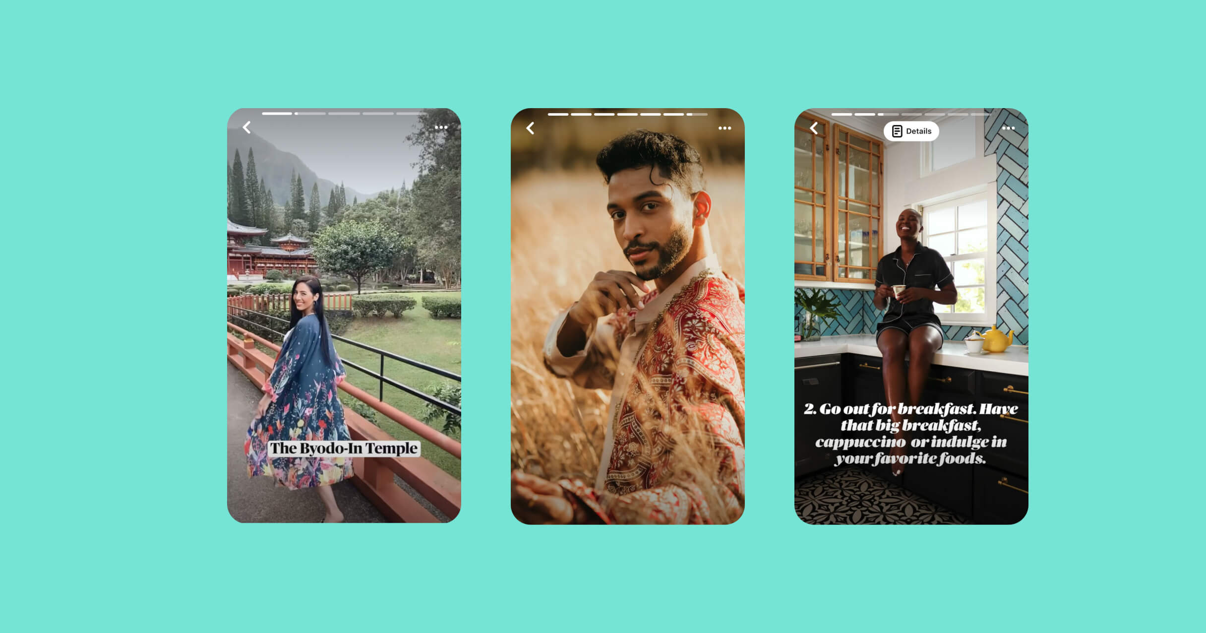 Idea Pins featuring Adela Guerra, Anthony Gomes and Oyin Edogi