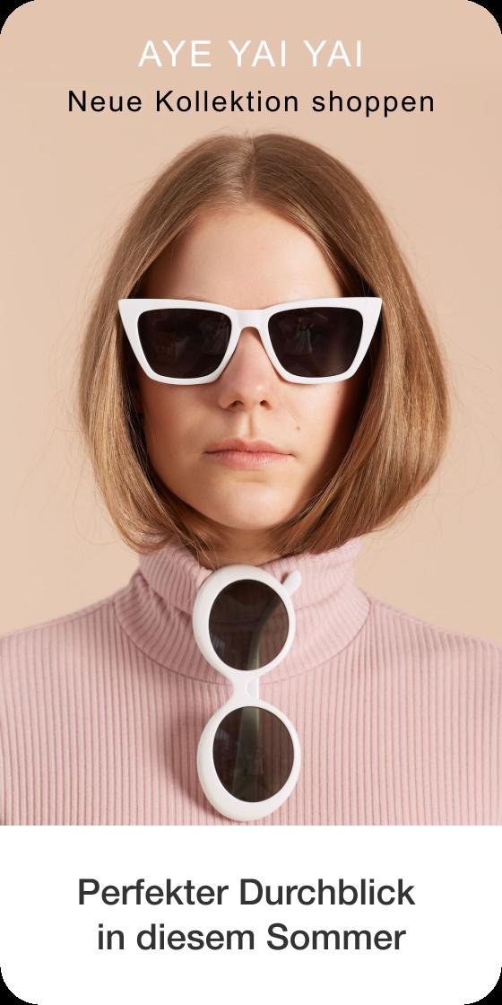 Bild eines Pins bei der Erstellung, auf dem eine Person mit Sonnenbrille zu sehen ist, mit Subtext