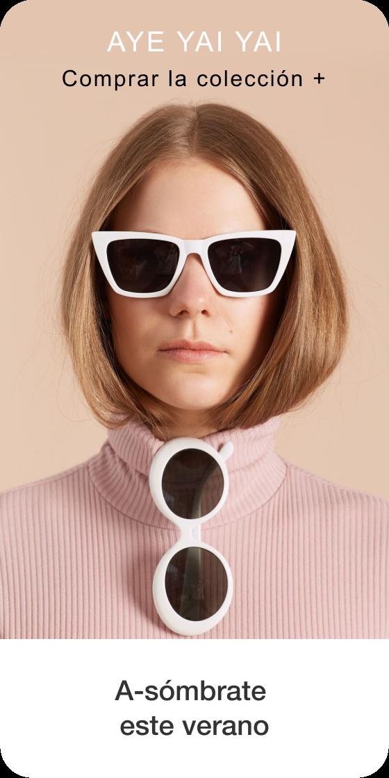 Imagen de la creación de un Pin que contiene una foto de una persona con gafas de sol con subtexto