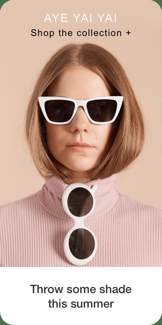 Изображение пина, создаваемого из фотографии девушки в очках, с подписью внизу