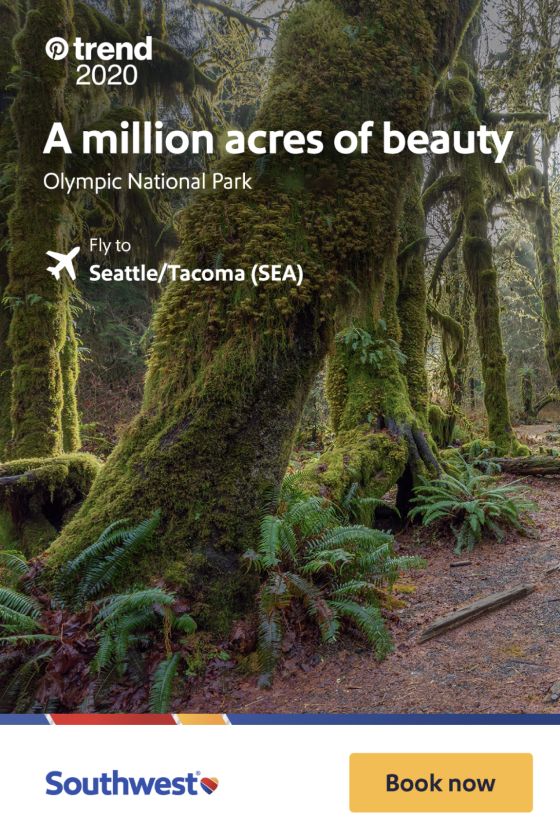 Southwest ad about trips to Seattle