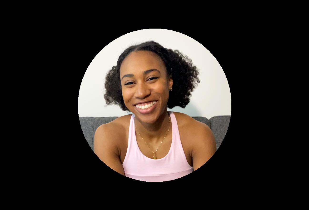 Porträt einer Schwarzen Frau, die ein Tanktop trägt