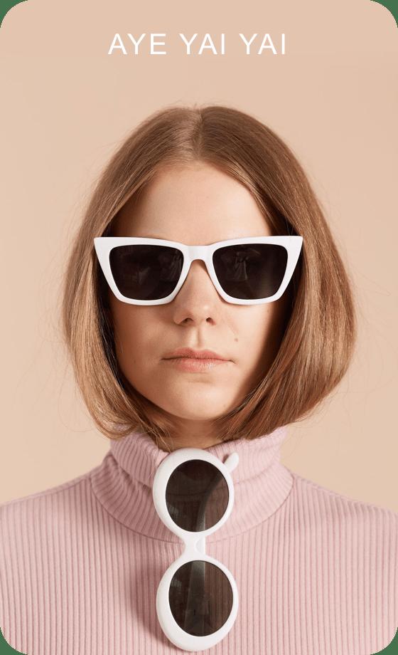 Imagem de um Pin sendo criado contendo uma foto de uma pessoa usando óculos escuros com texto