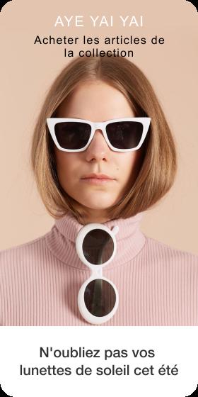 Création d'une épingle à partir de la photo d'une personne portant des lunettes de soleil avec du texte en dessous
