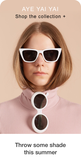 Image of a Pin being created containing a photo of person wearing sunglasses with subtext