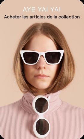 Création d'une épingle à partir de la photo d'une personne portant des lunettes de soleil avec du texte supplémentaire