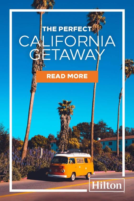 Hilton ad for trips in California