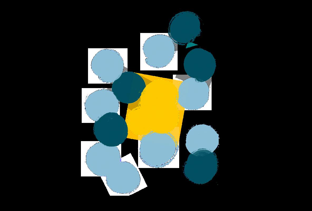 ドットのイラストレーション