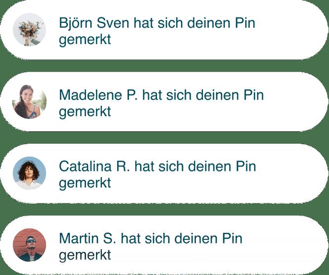 Verschiedene Nutzer, die sich denselben Pin merken