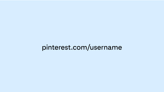A sample account URL centred on a light blue background
