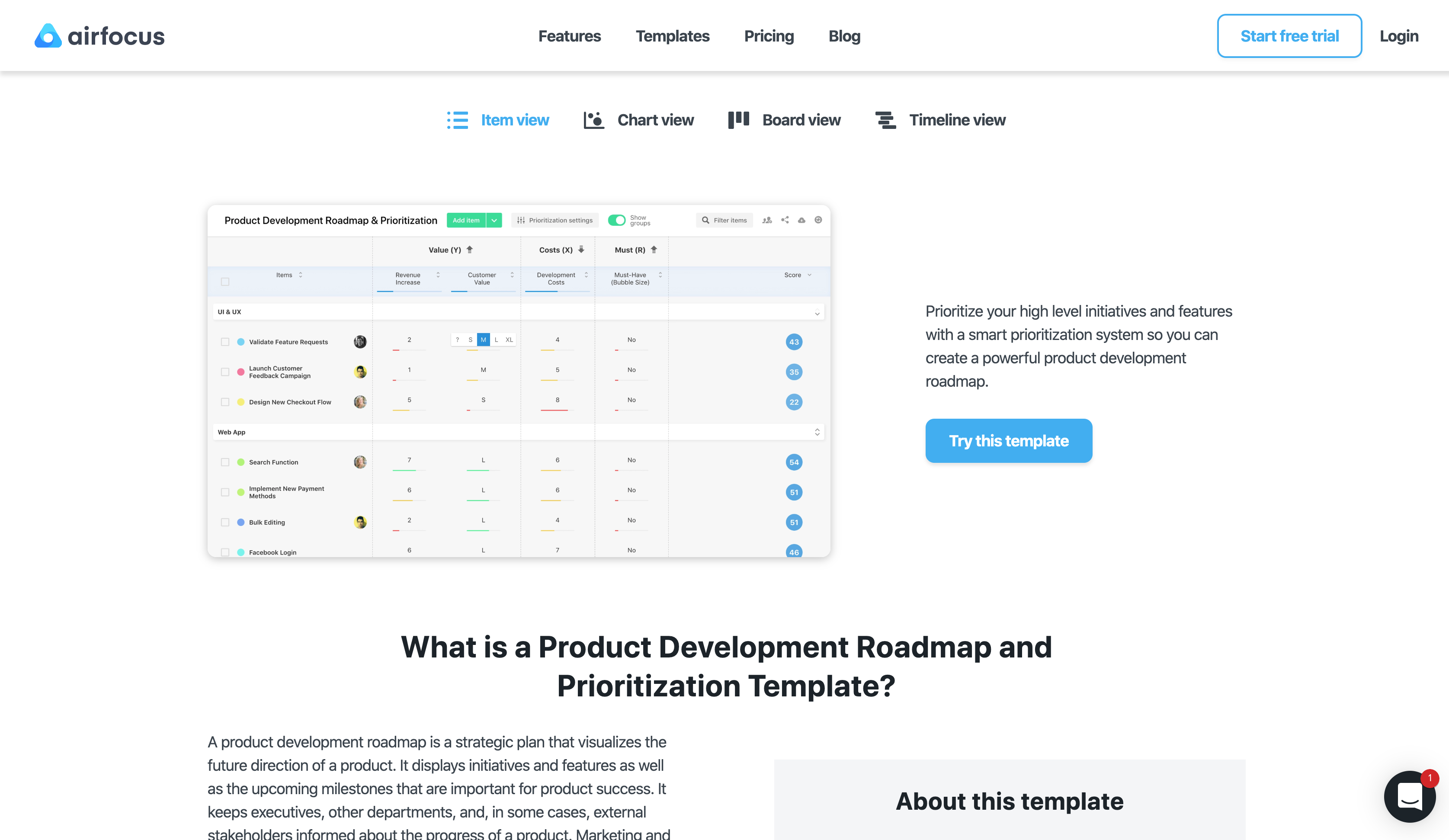 product development project overview