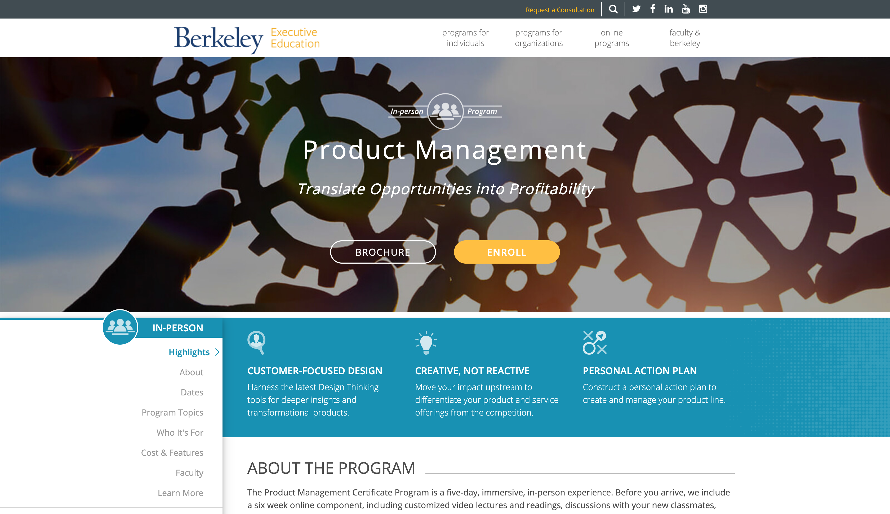 Product Management Program (Berkeley Executive Education)
