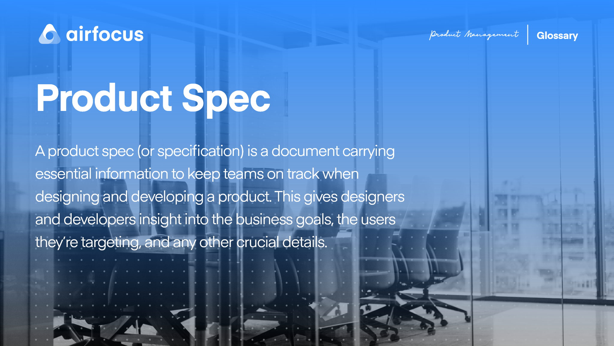 What Is A Product Spec?