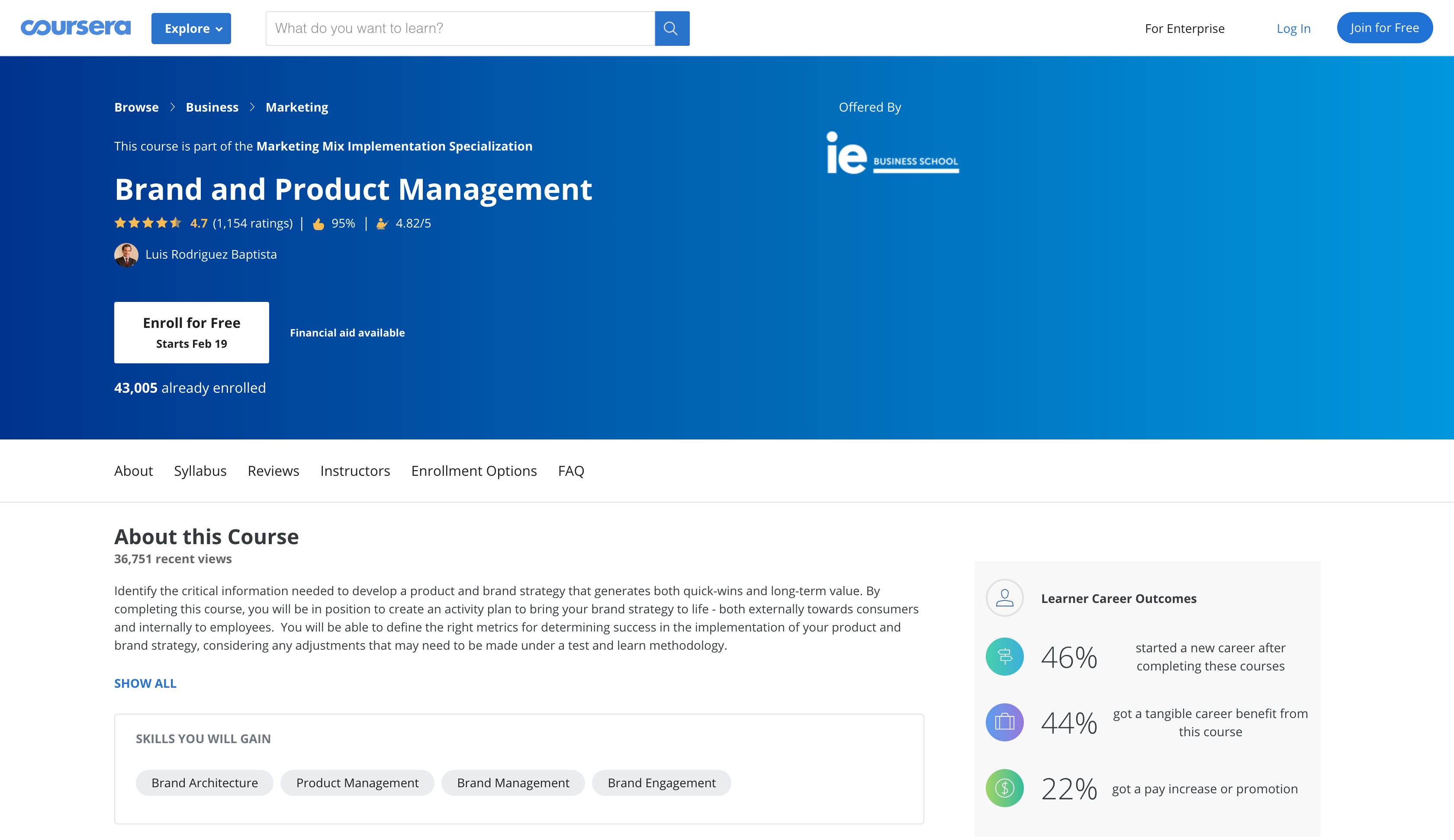 Brand and Product Management Certification Course (Coursera)