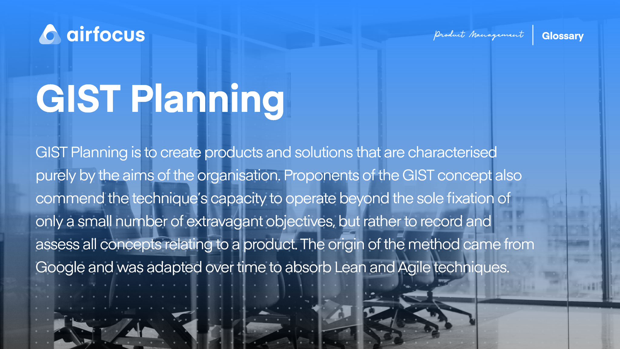 What is GIST Planning?