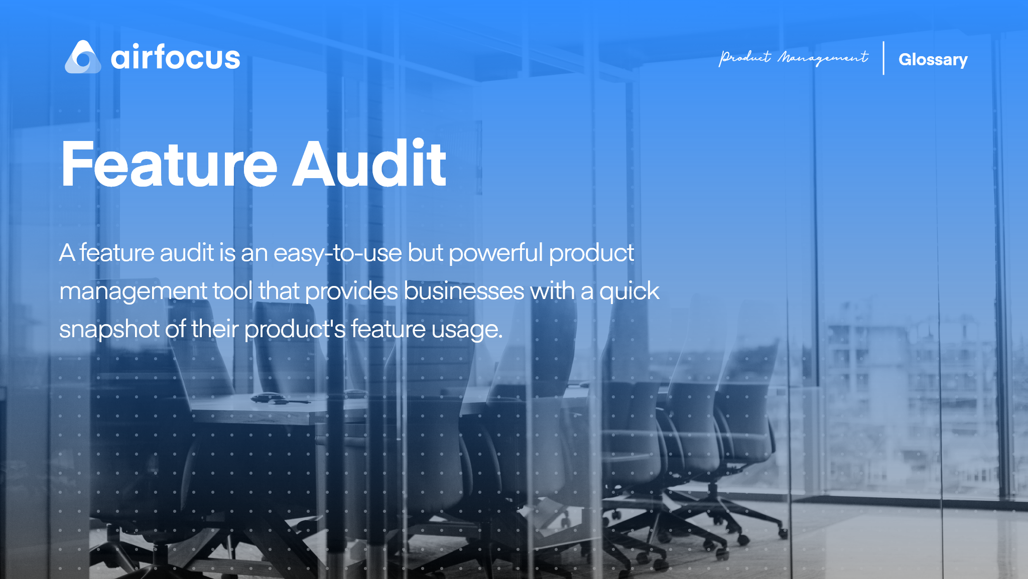 What is a Feature Audit?