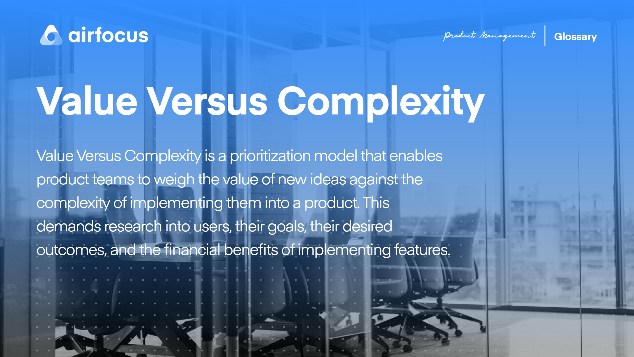 What Is Value versus Complexity?