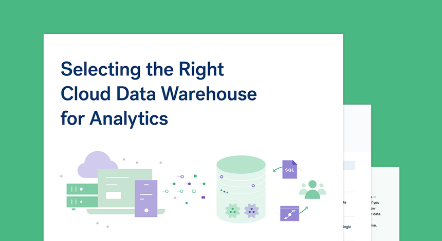 Selecting the right data warehouse for analytics