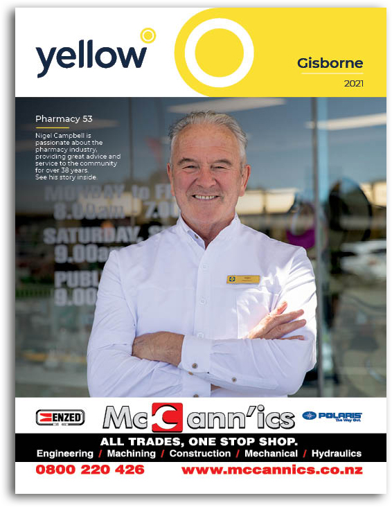 Gisborne Yellow Book Cover Image