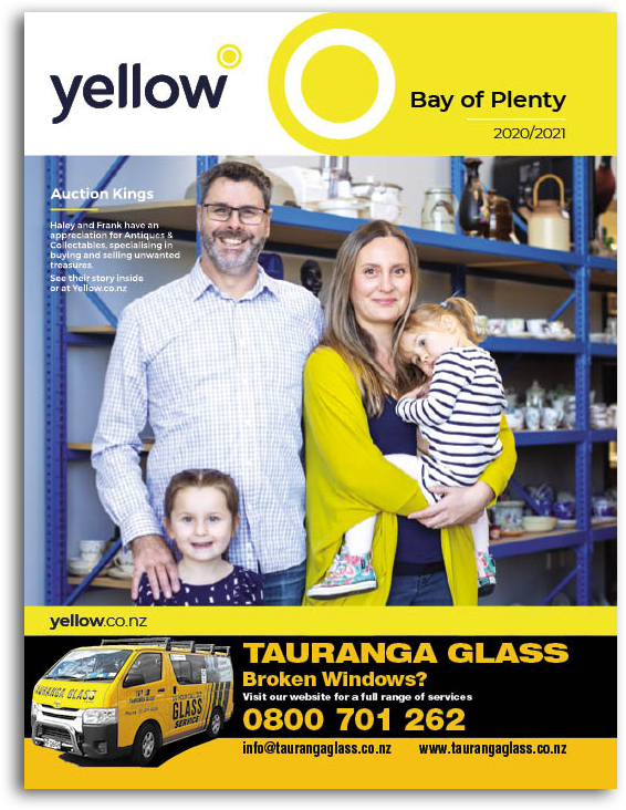 Yellow Book Cover - Bay fo Plenty