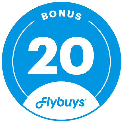 Earn 20 flybuys badge.