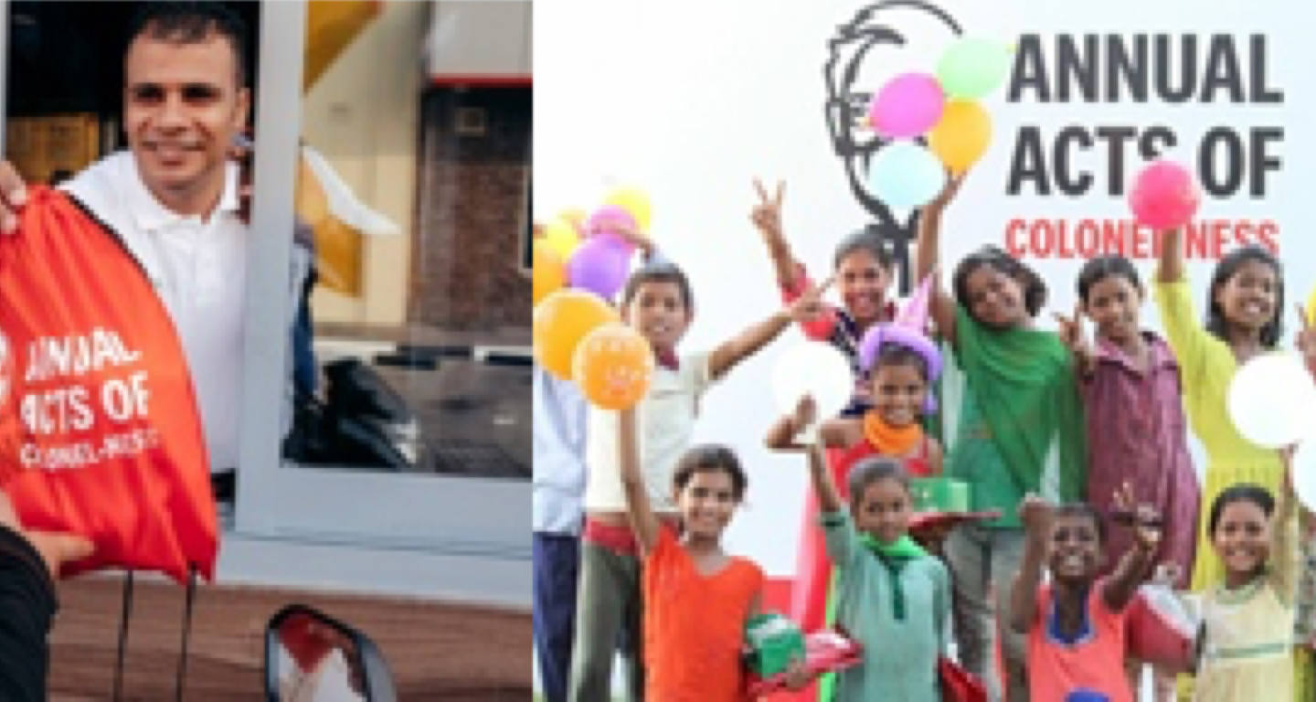 KFC HONORS FOUNDER's 128TH BIRTHDAY WITH FIRST GLOBAL COMMUNITY OUTREACH PROJECT, ACTS OF COLONEL-NESS