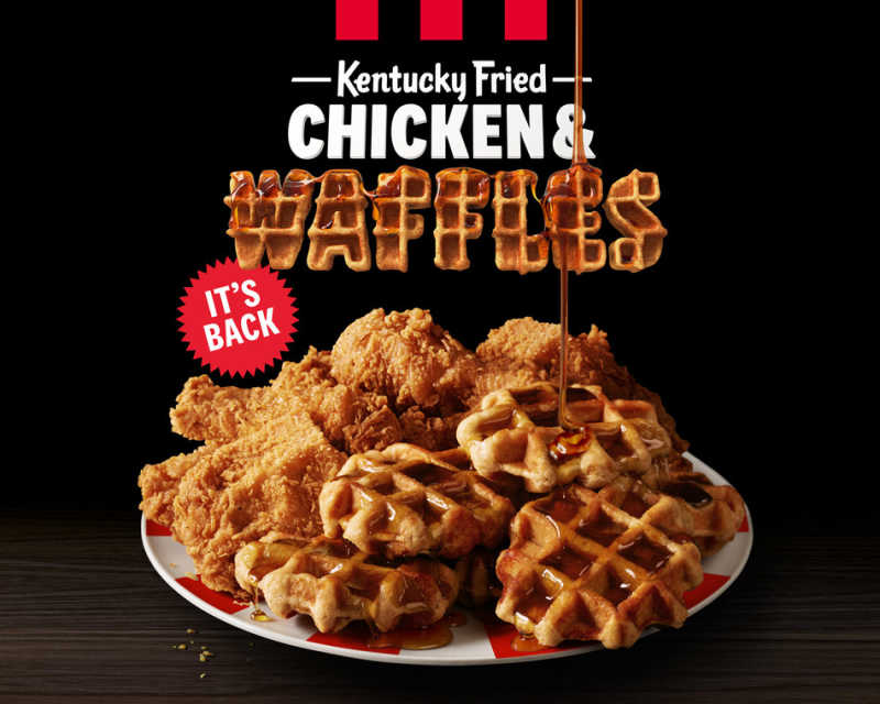 KFC U.S. IS BRINGING BACK CHICKEN & WAFFLES FOR ONE MONTH ONLY-GET IT WHILE YOU CAN!