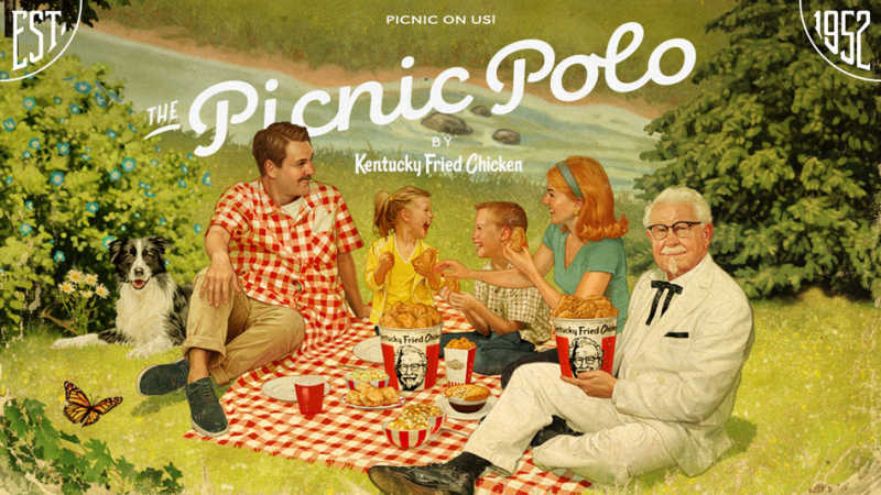 KFC'S PICNIC POLO MEANS YOU CAN PICNIC LITERALLY ANYWHERE THIS SUMMER