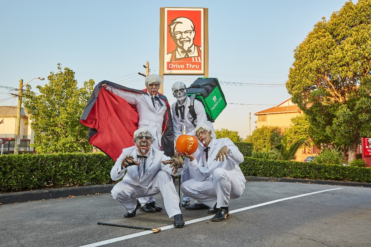 TRICK OR TREAT! KFC CURSED COLONELS GAVE AUSSIES THE FRIGHT OF THEIR LIFE ON HALLOWEEN