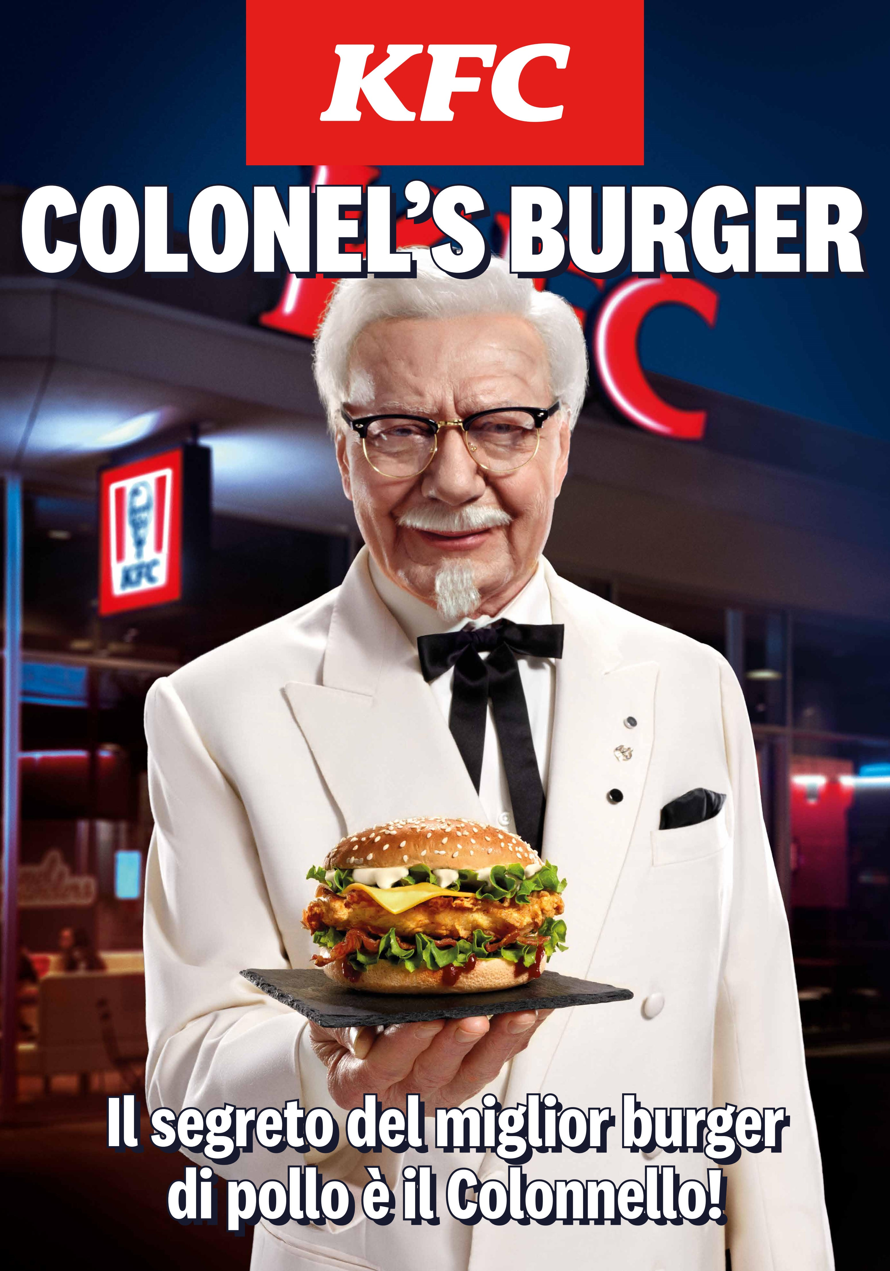 THE BEST FRIED CHICKEN BURGER? IT HAS THE COLONEL'S SIGNATURE!