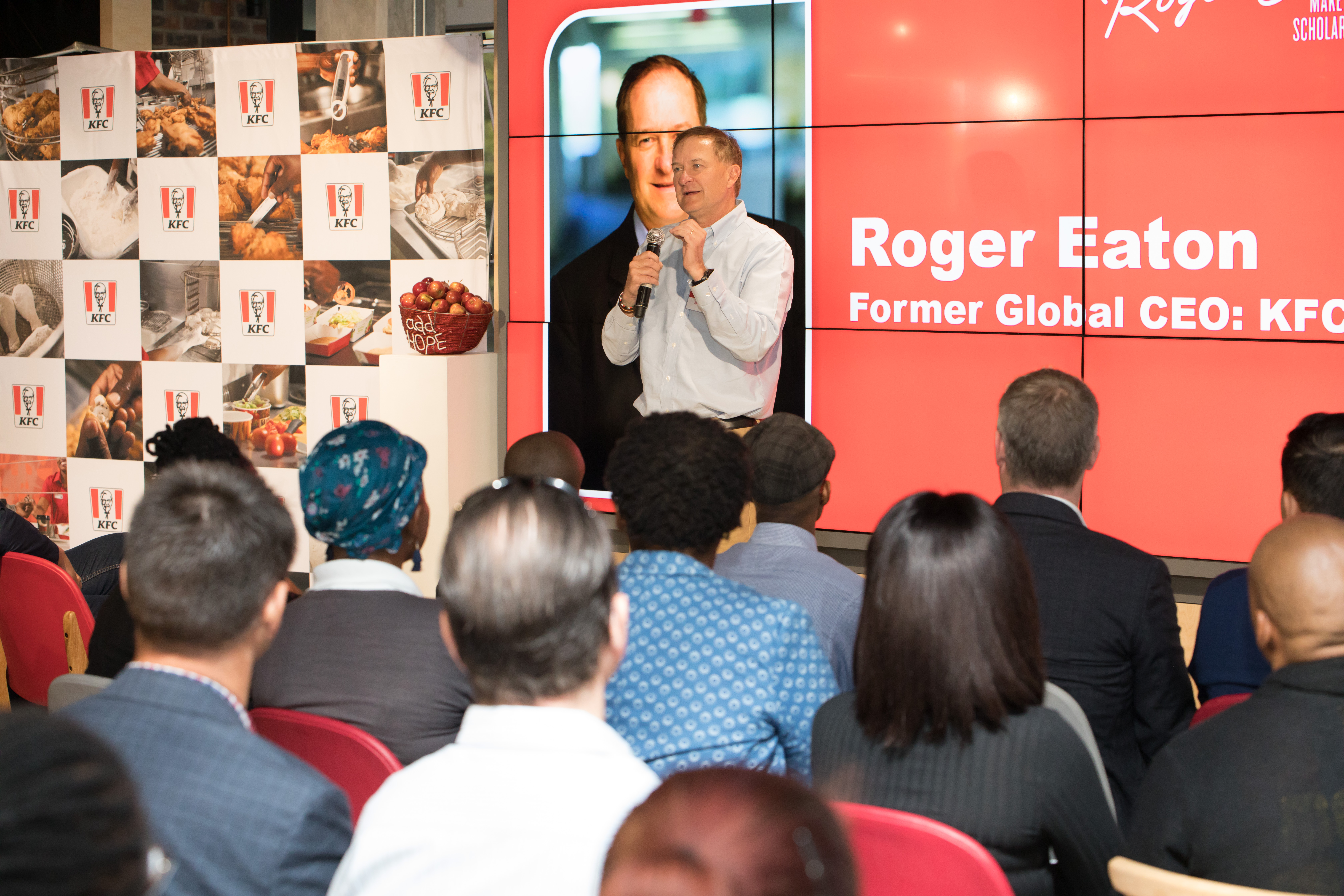 "FORMER KFC GLOBAL CEO COMES HOME TO PRESENT THE INAUGURAL ROGER EATON ""MAKE A DIFFERENCE"" SCHOLARSHIP AWARD"