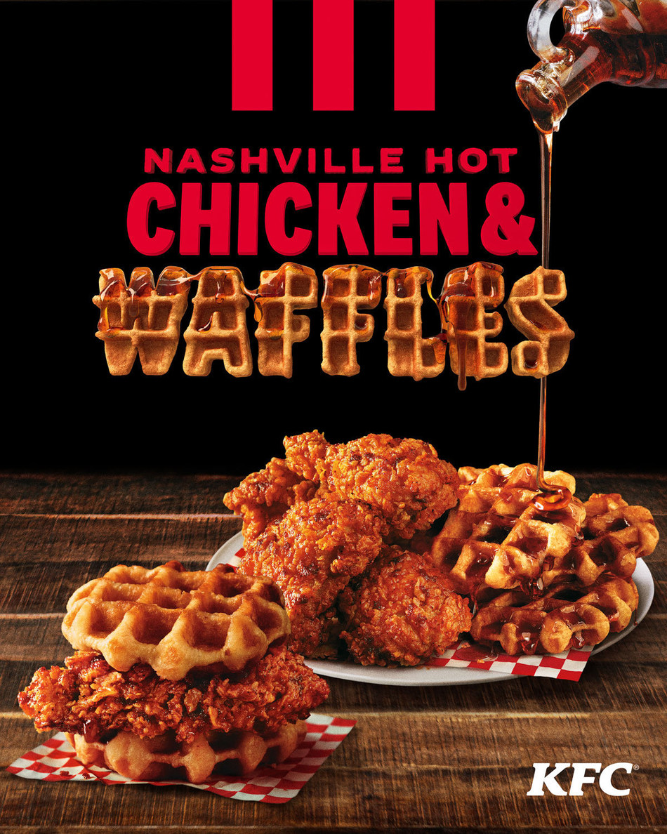 KFC US INTRODUCES NEW NASHVILLE HOT CHICKEN & WAFFLES: THE MOST DELICIOUS UNION OF ALL TIME JUST GOT HOTTER
